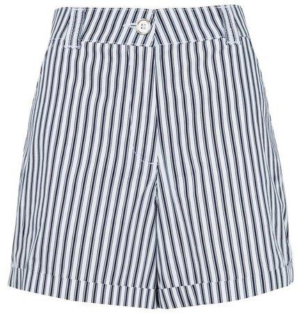 Navy Stripe Print Shorts