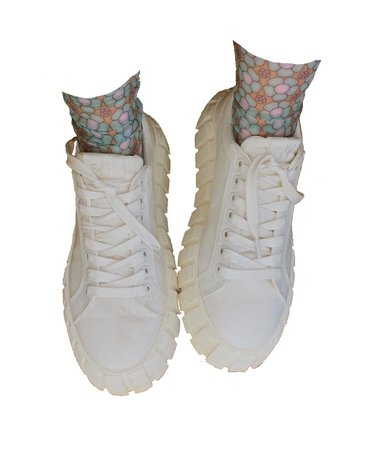 eytys white sneakers n sheer socks