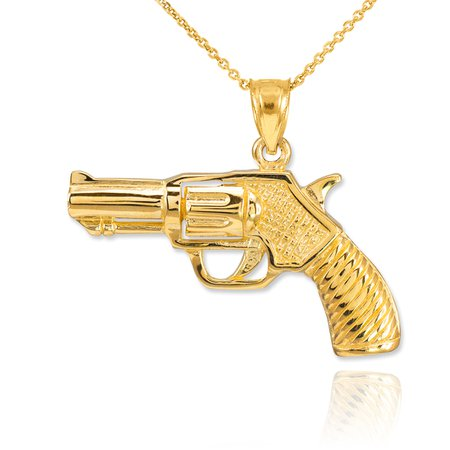 Gold Gun Necklace