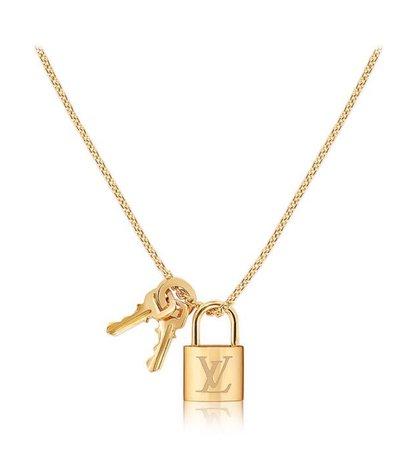 Louis Vuitton lock n key necklace (gold)