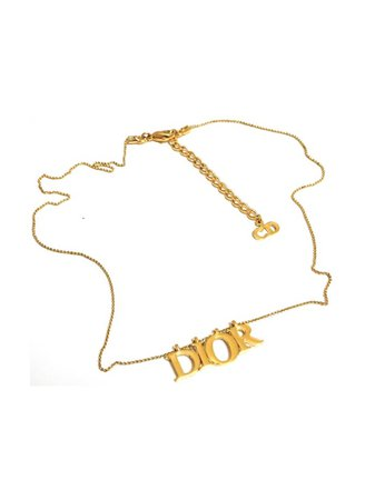 Gold Dior Necklace