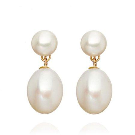 pearl earrings polyvore – Pesquisa Google