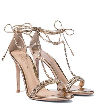 Embellished Metallic Leather Sandals   Gianvito Rossi - Mytheresa
