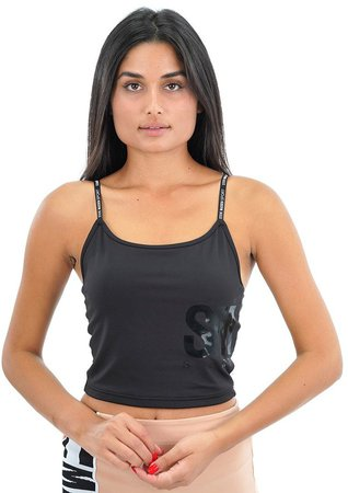 Active Cropped Tank Black