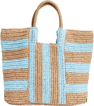 In Living Color Straw Tote