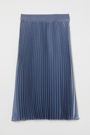 Pleated Skirt - Pigeon blue - Ladies   H&M US