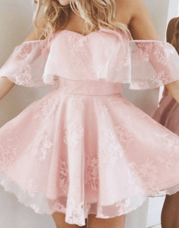Frilly Pink Lace Dress