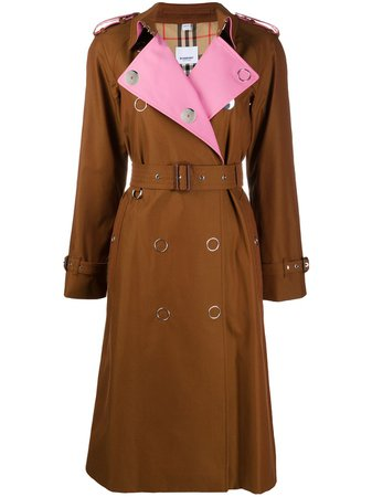 Burberry Gabardine Trench Coat - Farfetch
