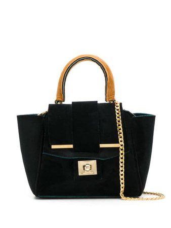 Alila Small Venice Tote Bag VENICESBLACKPETROLCARAMEL Black | Farfetch