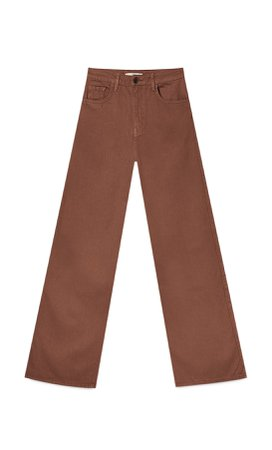 Twill bootcut trousers - Women's Just in | Stradivarius United States