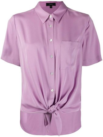 knotted short sleeved shirt
