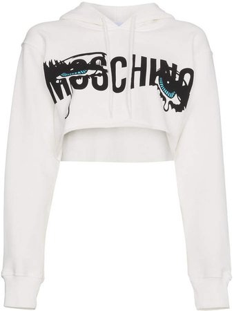 Moschino Cropped hoodie with logo ($283)