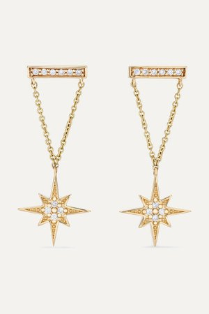 Sydney Evan | 14-karat gold diamond earrings | NET-A-PORTER.COM