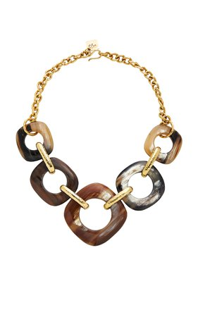 Tupa Horn and Bronze Necklace by Ashley Pittman | Moda Operandi