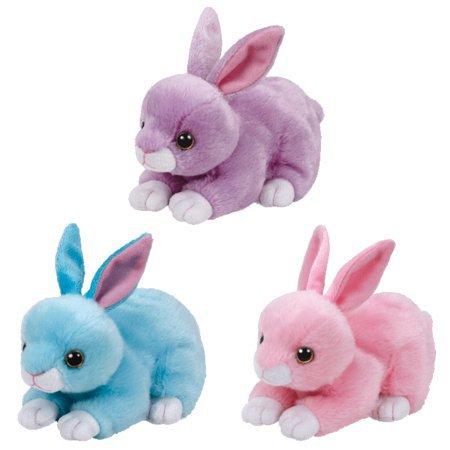 TY Beanie Babies - SET of 3 2017 Easter Bunnies (Dash, Jumper & Walker) (6 inch) - Walmart.com