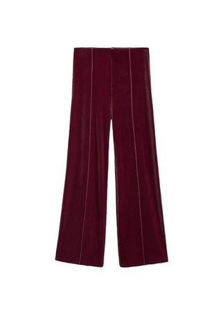 MANGO Flared velvet trousers