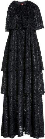 Staud Caya One Shoulder Dress