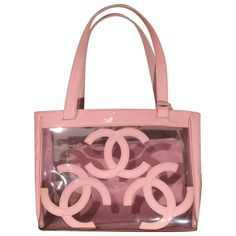 Chanel Pink Clear Vynil Tote