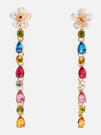 Zara pearls rainbow drop earring