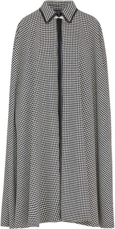 Giuliva Heritage The Cape Houndstooth Wool Coat