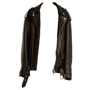 Black Leather Jacket Oversized