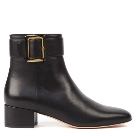 Bally Black Leather Jay Ankle Boots