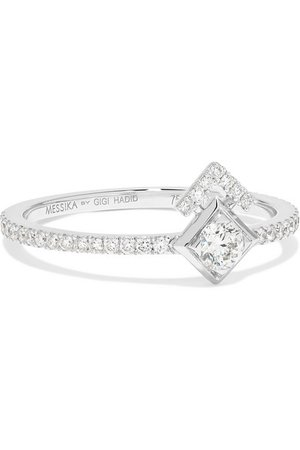 Messika | + Gigi Hadid My Soul 18-karat white gold diamond ring | NET-A-PORTER.COM
