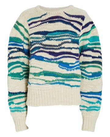 Isabel Marant Étoile Serena Striped Wool Crewneck Sweater | INTERMIX®