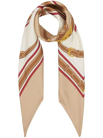 Burberry, Archive Scarf Print Silk Square Scarf