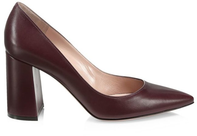 Piper Block-Heel Leather Pumps