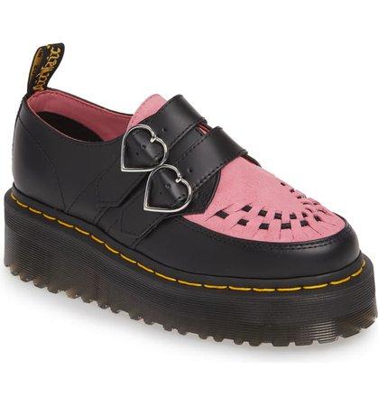 Dr. Martens x Lazy Oaf Buckle Platform Loafer (Women) | Nordstrom