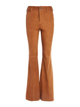 BRENT HIGH WAISTED SUEDE PANT | Alice + Olivia