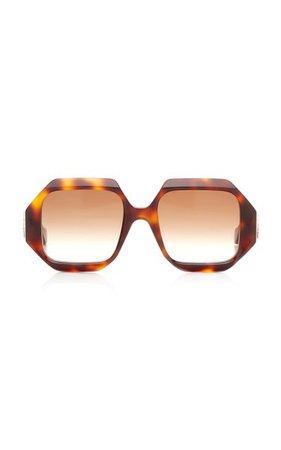 Oversized Square-Frame Acetate Sunglasses By Loewe | Moda Operandi