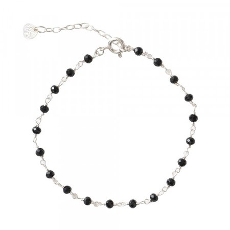 onyx and silver bracelet - Pesquisa Google