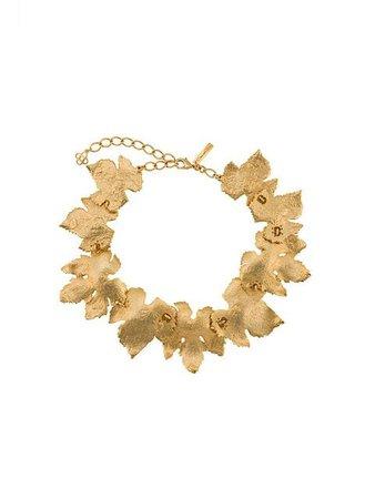 Oscar de la Renta Grape Leaf necklace