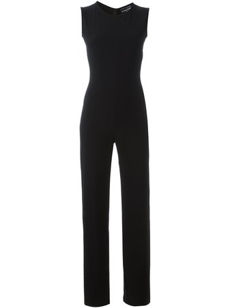Norma Kamali Fitted Sleeveless Jumpsuit - Farfetch