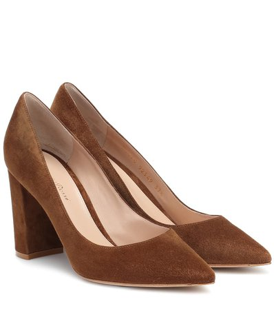Gianvito Rossi - Piper 85 suede pumps | Mytheresa