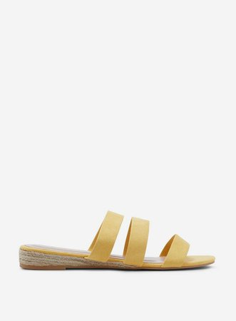 Wide Fit Yellow 'Forever' Sandals | Dorothy Perkins