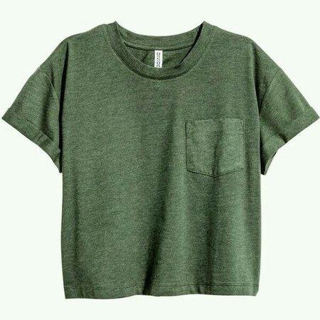 Green crop t-shirt