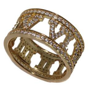 CRYSTAL ROMAN RING | GOLD – AmyShehab