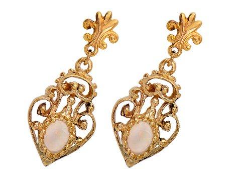 Rococo Design in a 1960s Opal Earring