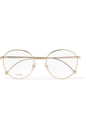 Fendi | Round-frame gold-tone optical glasses | NET-A-PORTER.COM