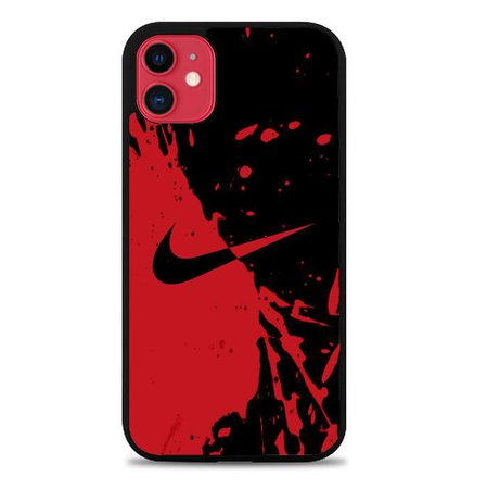 Nike Red and Black X9175 iPhone 11 Cover Cases | Recovery Case