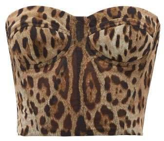 Leopard Print Tulle Bustier - Womens - Leopard