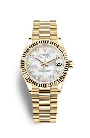 Rolex Datejust 31 Watch: 18 ct yellow gold - M278278-0010