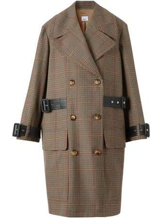 Burberry, Houndstooth Check Wool Double-Breasted Coat