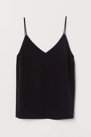 Silk Camisole Top - Black