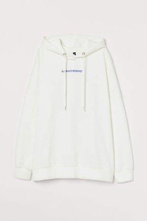 Cotton Hoodie - White