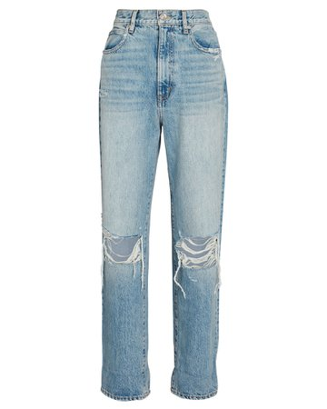 SLVRLAKE Dakota Distressed Straight-Leg Jeans | INTERMIX®