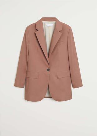 Structured suit blazer - Women   Mango USA brown